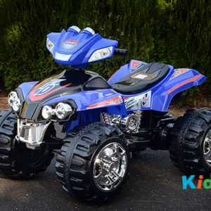 Quad-BIke-Blue-Ride-on-Bike-Front-Side